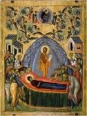 Успение Богородично, икона от Твер, ХV в.