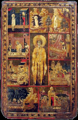 800px Vita icon of St Paraskeve of Trnovo Patriarchate of Peć 1719 20