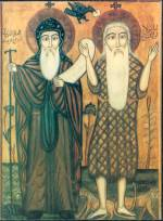 St Antony and st Paul Coptic ikon