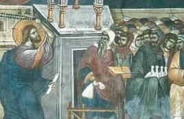Христос гони търговците от храма