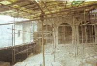 Храмът по време на реконструкцията, снимка в. Сега