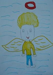 рисунка на Ангел, на 8 години