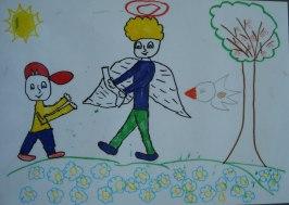 рисунка на Ангел, 8 години
